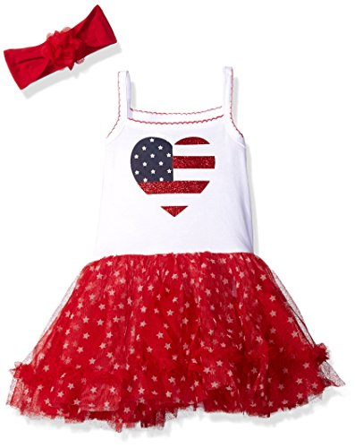 0889705176223 - THE CHILDREN'S PLACE BABY AMERICA TUTU DRESS, WHITE, 6-9 MONTHS