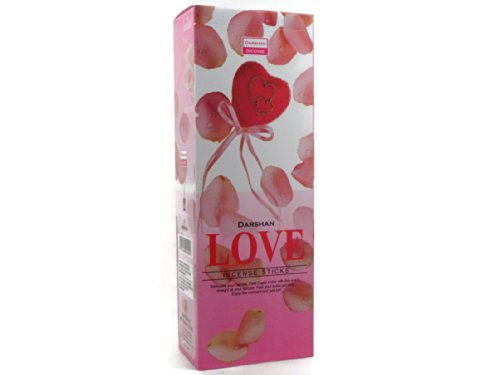8902264010400 - INCENSE LOVE, 120 STICKS IN A SIX PACK. DARSHAN, HAND MADE IN INDIA.