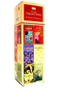 8902264014033 - DARSHAN INCENSE SQUARE COLLECTION - 25 ASSORTED FRAGRANCES, 8 STICKS EACH
