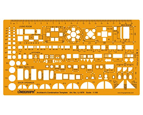 Metric 1 100 scale architect design drawing template - 1 4 scale furniture for interior design ...