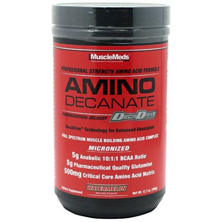 0891597002788 - MUSCLEMEDS AMINO DECANATE WATERMELON -- 13.3 OZ