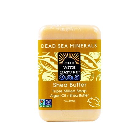 0893455000509 - ONE WITH NATURE SHEA BUTTER DEAD SEA MINERAL SOAP, 7 OUNCE BARS (PACK OF 6)