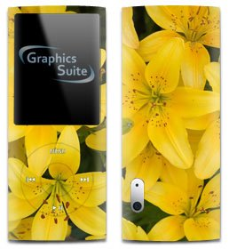 0089540135502 - YELLOW LILLY SKIN FOR APPLE IPOD NANO 5TH GENERATION