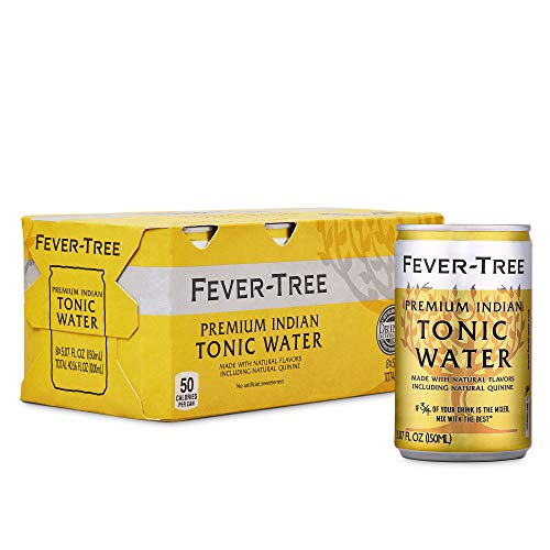 0898195001823 - FEVER-TREE PREMIUM INDIAN TONIC WATER CANS, NO ARTIFICIAL SWEETENERS, FLAVORINGS & PRESERVATIVES, 5.07 FL OZ (PACK OF 24)