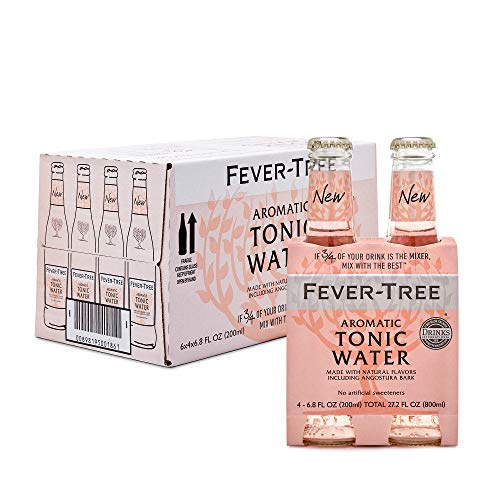 0898195001861 - FEVER-TREE AROMATIC TONIC WATER, 6.8 FL OZ GLASS BOTTLE (24 COUNT)