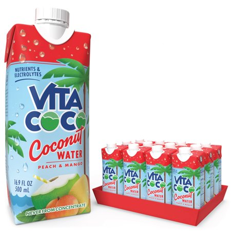 0898999044002 - VITA COCO COCONUT WATER, PEACH AND MANGO, 16.9 OUNCE (PACK OF 12)