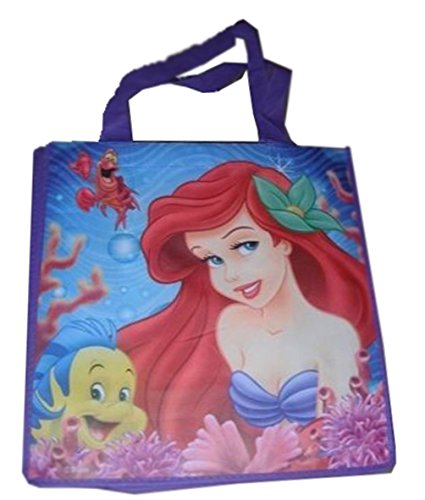 0899273001025 - LITTLE MERMAID ARIEL & FLOUNDER TOTE BAG 13 X 13 X 6 INCHES