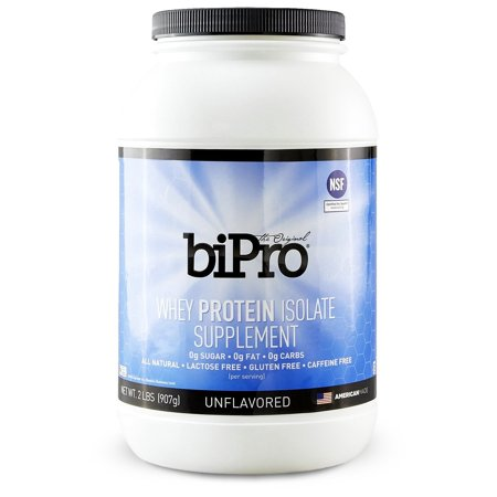 0899301000006 - BIPRO WHEY PROTEIN ISOLATE, 2LB. (41 SERVINGS), UNFLAVORED, NSF CERTIFIED FOR SPORT®