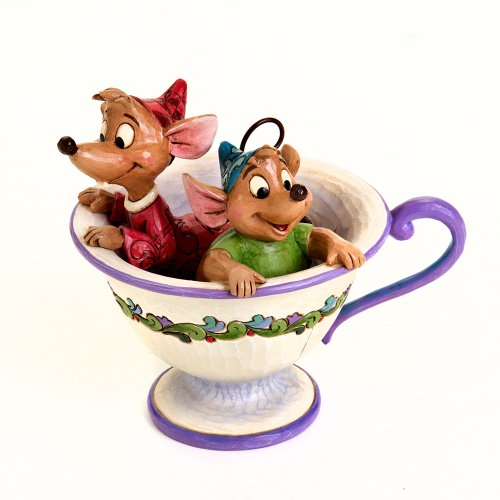9005359421965 - DISNEY TRADITIONS BY JIM SHORE CINDERELLA JAQ AND GUS TEA CUP FIGURINE TEA FOR TWO
