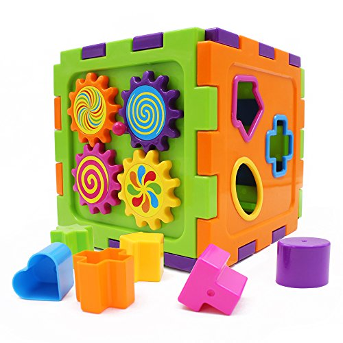 9054466412588 - HAPPYTIME PAZURU-KKO ??TYPE BECAUSE PUZZLE BOX BLOCK FORM TOGETHER TANGRAM AROUND GEAR INFANT CHILD EDUCATIONAL TOYS