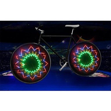 9125910492682 - ZHYU LEADBIKE A04 MULTICOLOR 1-MODE 16LED COOL BICYCLE SAFETY WARNING WHEEL LIGHTS(300 LM,3*AAA,MULTICOLOR)1PCS/PACKAGING