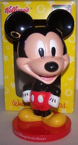 0009128490403 - 2002 KELLOGG'S KEEBLER STORE/MAIL ORDER PROMOTION DISNEY'S WALT DISNEY WORLD MICKEY MOUSE BOBBLE HEAD ABOUT 8 INCHES TALL