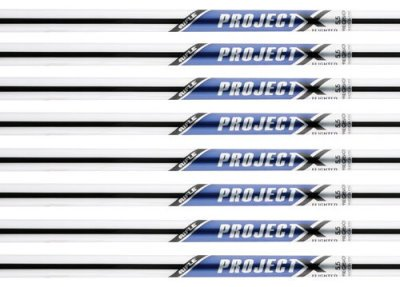 0092115421139 - RIFLE PROJECT X 5.5 FLIGHTED 3-PW STEEL IRON SHAFTS .355 TAPER TIP -- SET OF 8 SHAFTS