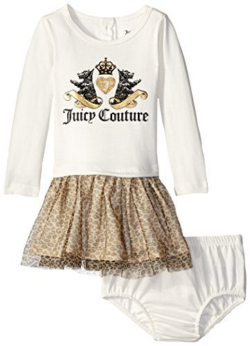 0096413395406 - JUICY COUTURE BABY-GIRLS INFANT CREAM LEOPARD PRINT DRESS, MULTI, 18 MONTHS