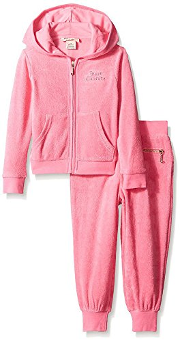 0096413700187 - JUICY COUTURE BABY GIRLS FRENCH TERRY JOG SET (18M, PINK)