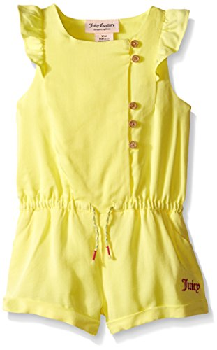 0096413982040 - JUICY COUTURE BABY RAYON TWILL ROMPER, YELLOW, 18 MONTHS