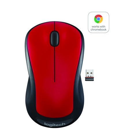0097855141767 - LOGITECH FULL SIZE WIRELESS MOUSE - RED
