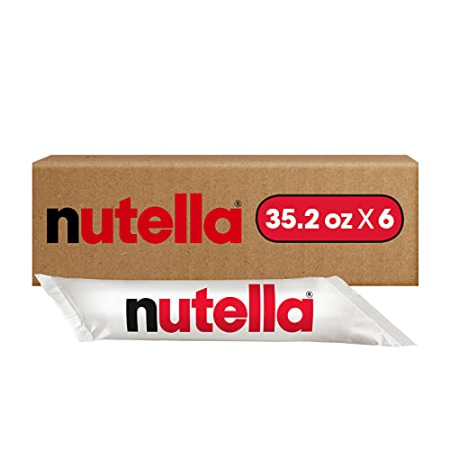 0009800870196 - NUTELLA CHOCOLATE HAZELNUT SPREAD, BULK FOR FOOD SERVICE AND RESTUARANTS, 2.2 LB PIPING BAGS, CASE OF 6