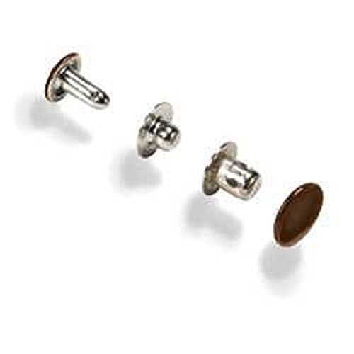 0098834121800 - 2 PACKS -MULTI-PURPOSE BROWN PLATED SEGMA TYPE SNAPS (20 TOTAL) FREE SHIPPING!