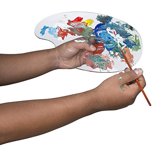 0989898846443 - 8X12 TRAVEL SIZE CLEAR ACRYLIC PALETTE FOR PERFECT MIXES AND EASY CLEANING - 1/8 THICK. PACK ALONG FOR PLEIN AIR PAINTING