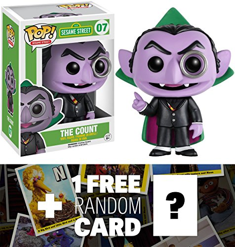 9899999499435 - THE COUNT: FUNKO POP! X SESAME STREET VINYL FIGURE + 1 FREE OFFICIAL SESAME STREET TRADING CARD BUNDLE