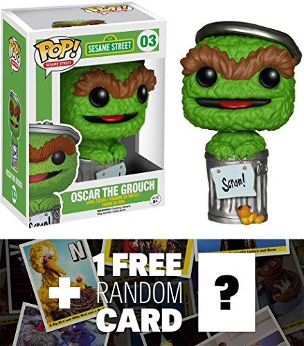 9899999532163 - OSCAR THE GROUCH: FUNKO POP! X SESAME STREET VINYL FIGURE + 1 FREE OFFICIAL SESAME STREET TRADING CARD BUNDLE