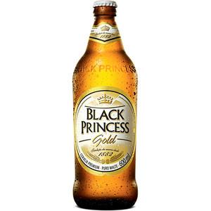 7898377660575 - PACK CERVEJA AMERICAN LAGER PURO MALTE GOLD BLACK PRINCESS PREMIUM GARRAFA 6 UNIDADES 600ML CADA