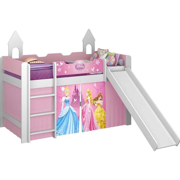 7893530045459 - CAMA PURA MAGIA PRINCESAS PLAY COM TENDA E ESCORREGADOR INFANTIL