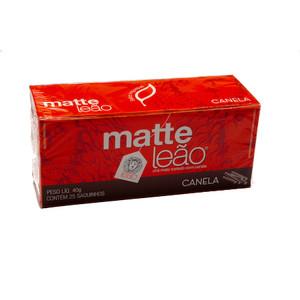 7891098000972 - CHÁ MATE COM CANELA MATTE LEÃO CAIXA 40G 25 UNIDADES