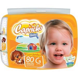 7891522054618 - CAPRICHO BABY G DESCARTÁVEL 80 UNIDADES
