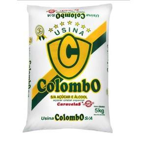 7896894900082 - AÇÚCAR CRISTAL ESPECIAL COLOMBO CARAVELAS PACOTE 5KG