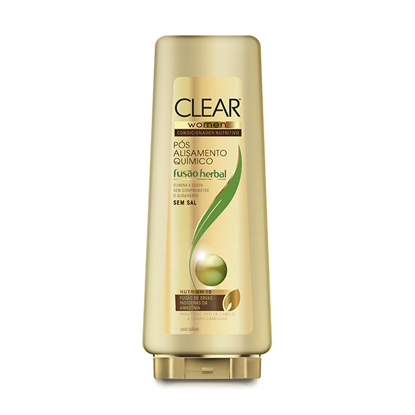 7891150025639 - CONDICIONADOR CLEAR WOMEN PÓS ALISAMENTO QUÍMICO FUSÃO HERBAL