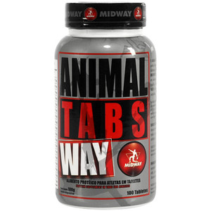 7898008492599 - ESPORTIVO MIDWAY ANIMAL TABS ULTIMATE ANABOLIC POTE 100 TABLETES