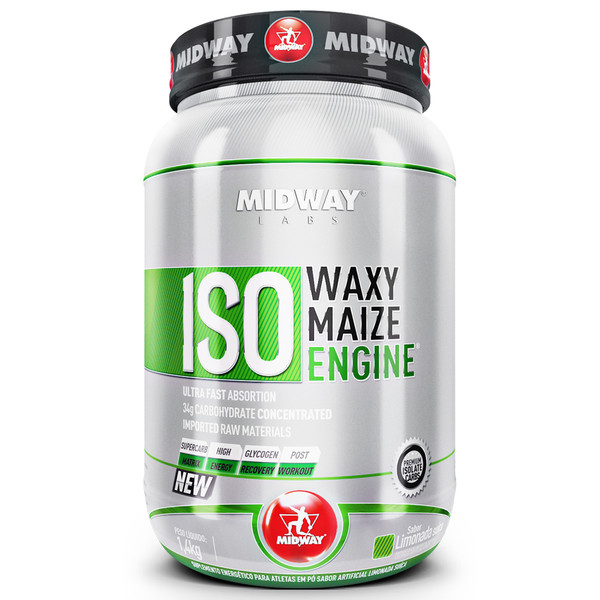 7898008494104 - ESPORTIVO MIDWAY ISO WAXY MAIZE ENGINE POTE PÓ 1400 GRAMAS