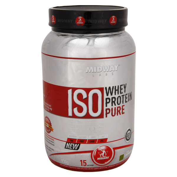 7898008493718 - ESPORTIVO MIDWAY ISO WHEY PROTEIN PURE POTE PÓ 930 GRAMAS