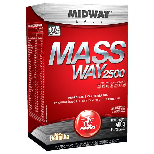 7898008490342 - ESPORTIVO MIDWAY MASS WAY 2500 CAIXA PÓ 400 GRAMAS