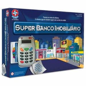 7896027539936 - ESTRELA SUPER BANCO IMOBILIÁRIO COM MÁQUINA DE CARTÃO DE CRÉDITO