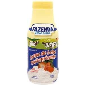 7896229800087 - CREME DE LEITE PASTEURIZADO FAZENDA BELA VISTA GARRAFA 500G