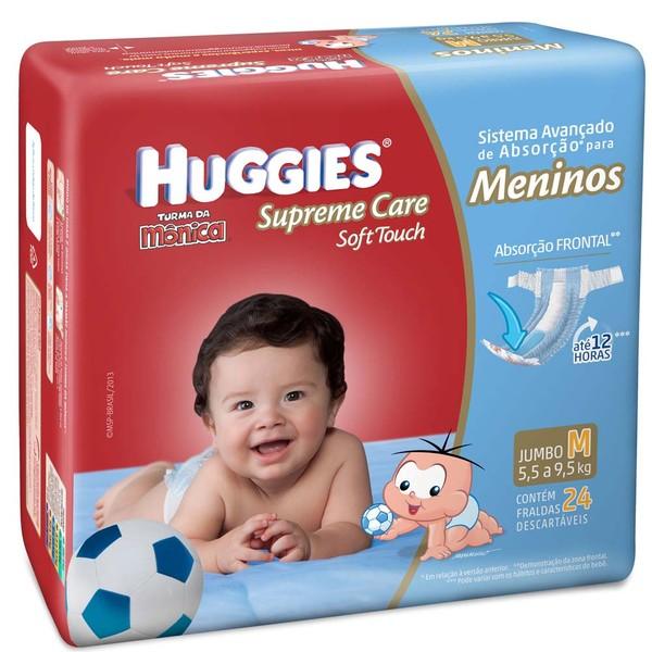 7896007546244 - HUGGIES TURMA DA MÔNICA SUPREME CARE SOFT TOUCH MENINOS M 24 UNIDADES