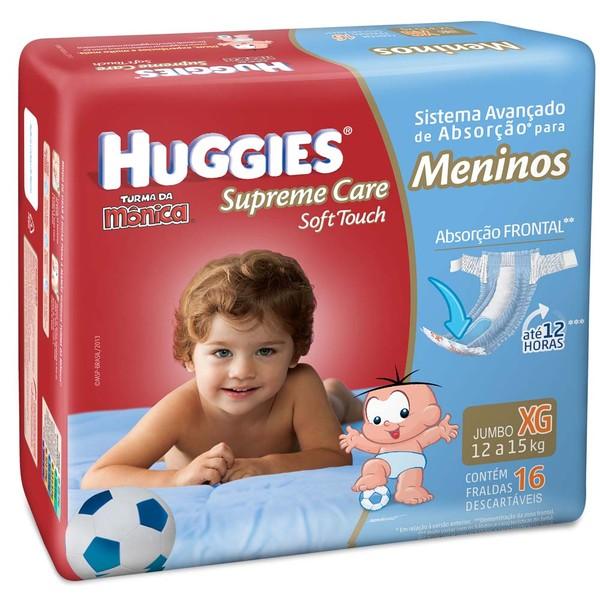 7896007546329 - FRALDA HUGGIES SUPREME CARE SOFT TOUCH JUMBO MENINOS TAMANHO XG