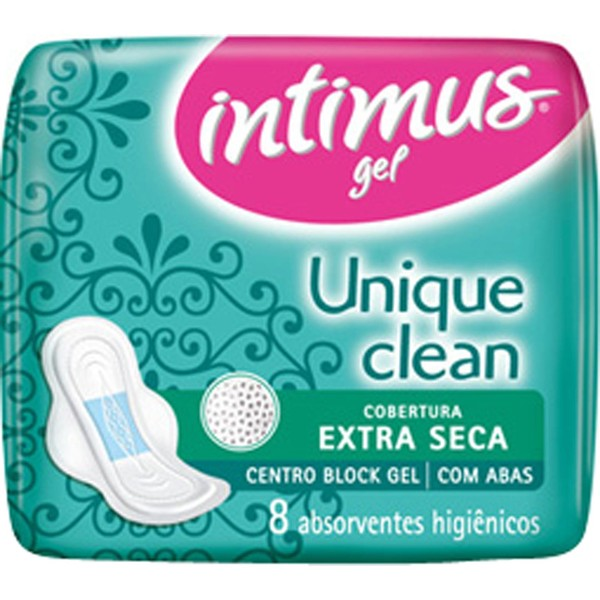7896007543779 - ABSORVENTE GEL UNIQUE CLEAN SECA C/2 CAIXA EXCLUSIVA - INTIMUS