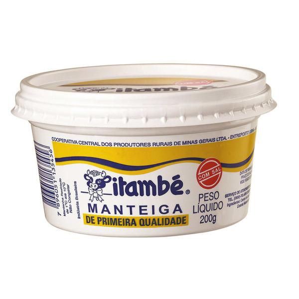 7896051135456 - MANTEIGA DE PRIMEIRA QUALIDADE COM SAL ITAMBÉ POTE 200G