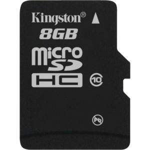 0804272739459 - KINGSTON SDC10/8GB 8GB MICRO SDHC