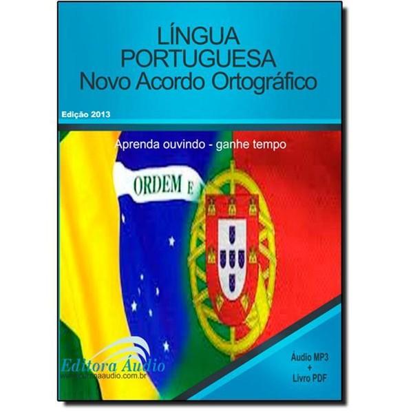 9788580260915 - LÍNGUA PORTUGUESA NOVO ACORDO ORTOGRÁFICO - AUDIOLIVRO - RUBENS SOUZA