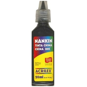 7891153051130 - NANQUIM ACRILEX PRETO 520 1 COR