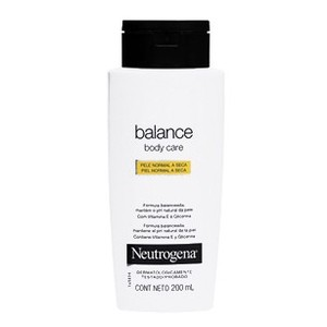 7891010099480 - LOÇÃO NEUTROGENA BODY CARE BALANCE PELE NORMAL A SECA