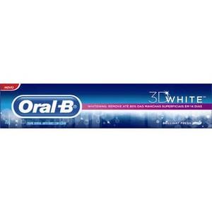 7506339305487 - CREME DENTAL ORAL B 3D WHITE LUXE PROTEÇÃO DO ESMALTE