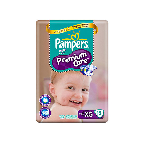7898148647897 - PAMPERS PREMIUM CARE XG 16 UNIDADES
