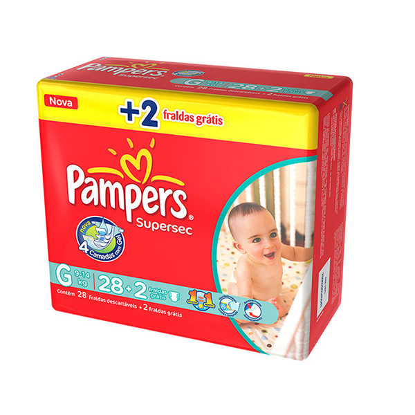 7506295345541 - PAMPERS SUPERSEC G 30 UNIDADES