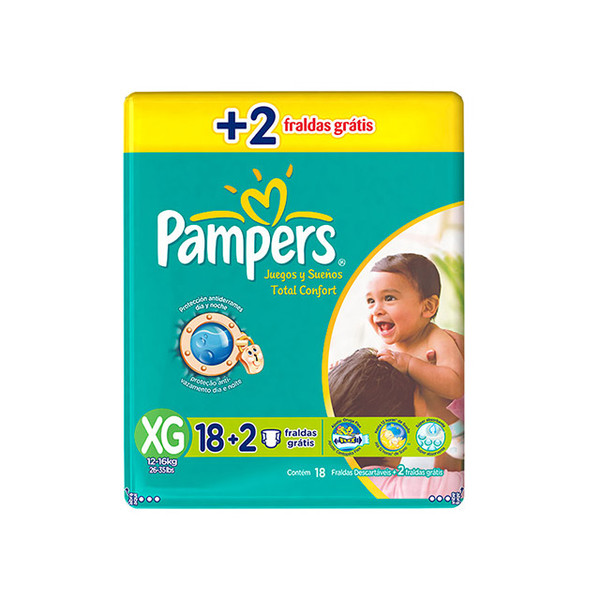 7506295315834 - PAMPERS TOTAL CONFORT XG 20 UNIDADES